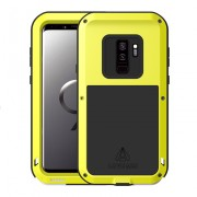 LOVE MEI Shockproof Dropproof Dustproof Case Phone Shell for Samsung Galaxy S9+ SM-G965 - Yellow