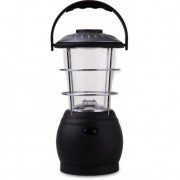 Lampião Recarregável com Manivela e Carregador 26 cm