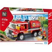 Joc constructie Blocki, Cisterna pompieri, 213 piese, Robentoys
