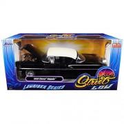 "1958 Chevrolet Impala Black ""Lowrider Series"" Street Low 1/24 Diecast Model Car by Jada"