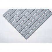 PVC-Profilmatte, pro lfd. m Lauffläche aus Hart-PVC, rutschsicher Breite 600 mm, grau