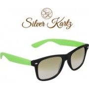 Silver Kartz Wayfarer, Rectangular Sunglasses(Green)