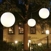 EPSTEIN Lámpara colgante exterior Snowball blanca 40 cm