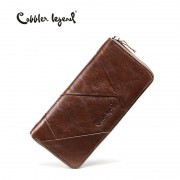 Cobbler Legend 2017 New Retro Trend Women's Wallets For Lady Genuine Leather Thin Clutch Wallet For Girls Long Coin Card Purses
