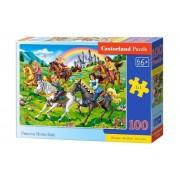 Puzzle Cursa de cai a printeselor, 100 piese
