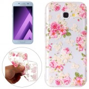 Samsung Galaxy A5 Case, (2017) Roses Pattern Embossment TPU Protective Back Cover Case