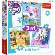 "Trefl Puzzle Slagalica ""3 in 1"" My Little Pony Jigsaw (34843)"