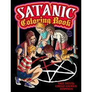 Satanic Coloring Book: The Devil Child Games Edition: Presenting Satan, Lucifer, Black Goat, Sigil Baphomet, Antichrist, Necronomicon, Black, Paperback/Juan David Giraldo
