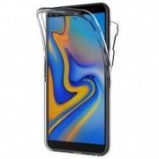 Husa Full TPU 360° fata + spate pentru Samsung Galaxy J6 Plus 2018 Gri Transparent