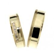 Zlatý snubní prsten Gems Line, 431-0201_0202 ze žlutého zlata