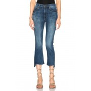 MOTHER Insider Crop Step Fray in Blue. - size 31 (also in 25,26,27,28,29,30)