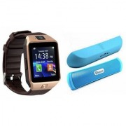 Zemini DZ09 Smartwatch and B 13 Bluetooth Speaker for SAMSUNG GALAXY ACE 4 LTE(DZ09 Smart Watch With 4G Sim Card Memory Card| B 13 Bluetooth Speaker)