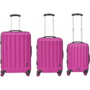 Packenger harde trolleyset met 4 wieltjes, »Velvet« (3-dlg.)