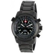 Swiss Precimax Black9528 Swiss Precimax Men's SP13076 Squadron Pro Black Dial with Black Stainless-Steel Band Watch Watch - For Men