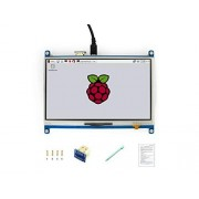 Waveshare 7inch Resistive Touch Screen LCD HDMI Interface 1024×600 High Resolution Designed for Any Revision of Raspberry Pi