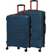 IT Luggage Expressway Polycarbonate Hardsided Suitcase Set | Large & Medium Lightweight Travel Bags | 8 Wheel Trolley |16-2337-08| Set of 2 Expandable Check-in Luggage - 31 inch(Blue)