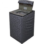 Dream Care Grey Colour with Square Design Washing Machine Cover for Fully Automatic Top Loading LG T7208TDDLP 6.2 KG