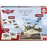 Puzzle Educa - 2 Puzzles + Domino + Identic - Planes, 2x25 piese (15780)