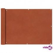 vidaXL Balkonska Zaštita od Oxford Tkanine u Boji Terakote 75x400 cm