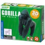 Дървен 3D пъзел - Горила, Goki, 871504