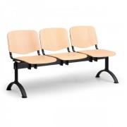 Kovo Praktik Dřevěná lavice ISO II - 3-sedák, černé nohy