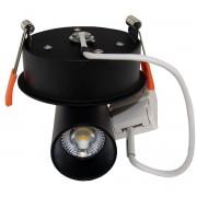 Downlight Spot LED COB Dimmable 9W Noir - couleur eclairage : Blanc Neutre 4000K - 5500K