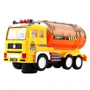 Kids_Bazar Mixers Flash Electric Concrete Mixer Truck,Flash Eletric Engineering Truck ,Truck with Electric Flash Light and Rotating Toy( 3 Pieces)