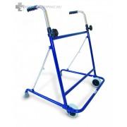 Állítható, összecsukható kerekes járókeret nagyfokú stabilitást biztosít