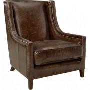 AW44 Armchair - Leather vintage cigar