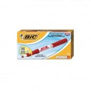 Great Erase Grip Fine Point Dry Erase Marker, Red, Dozen
