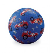 "Crocodile Creek 7"" Red Race Car Blue Playground Ball, Blue/Red/Black/White, 7"""