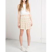 BERSHKA Flower Skirt