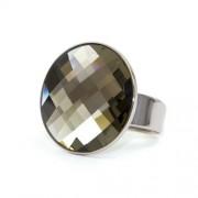 Moon Swarovski® kristályos nemesacél gyűrű - Silver Night