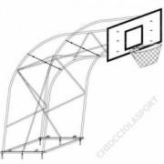 Impianto Basket Traliccio Sbalzo cm.225
