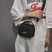 Zuivere kleur Messenger Bag mode dames handtas zakje GSM tas (zwart)