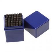 Phenovo Letter & Number Steel Stamp Die Punch Jewelers Set Metal in Case - 3mm