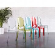 Beliani Áttetsző fekete étkező szék szett MERTON