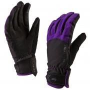 Sealskinz Women's All Season Gloves - Black/Purple - L - Black/Purple