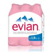 Evian 1.50 L x 6 pack - PET