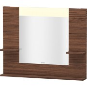 Duravit Vero - Miroir avec éclairage LED 1000mm dark walnut / mirrored