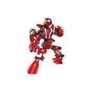 Brinquedo Para Montar Robo Guerreiro Red Armor 59p Xalingo