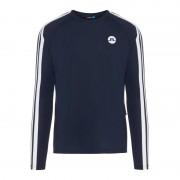 J.Lindeberg Men's Camron Placement Mesh Long-Sleeved T-Shirt Blå
