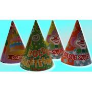 Party csúcsos kalap (születésnapos), 6 db/csomag