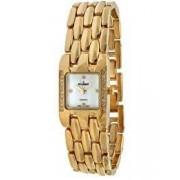 Peugeot Women's Crystal Adjustable Gold-tone Bracelet Watch