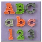 Set 3 Mulaje Alfabet si Cifre cu Umbre, h 2.1 cm