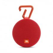 JBL Clip 2 - водоустойчив безжичен портативен спийкър (с карабинер) с микрофон за мобилни устройства (червен)
