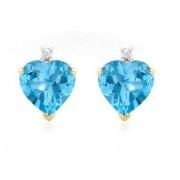Cercei Topaz Natural & Diamante Naturale din Aur 9 carate