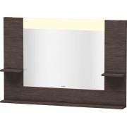 Duravit Vero - Miroir avec éclairage LED 1200mm brushed dark oak / mirrored