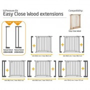 Extensie 8cm poarta Easy Close Wood Safety 1St