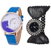 New Mxre Blue With Black Julo Analog Combo Watch For women